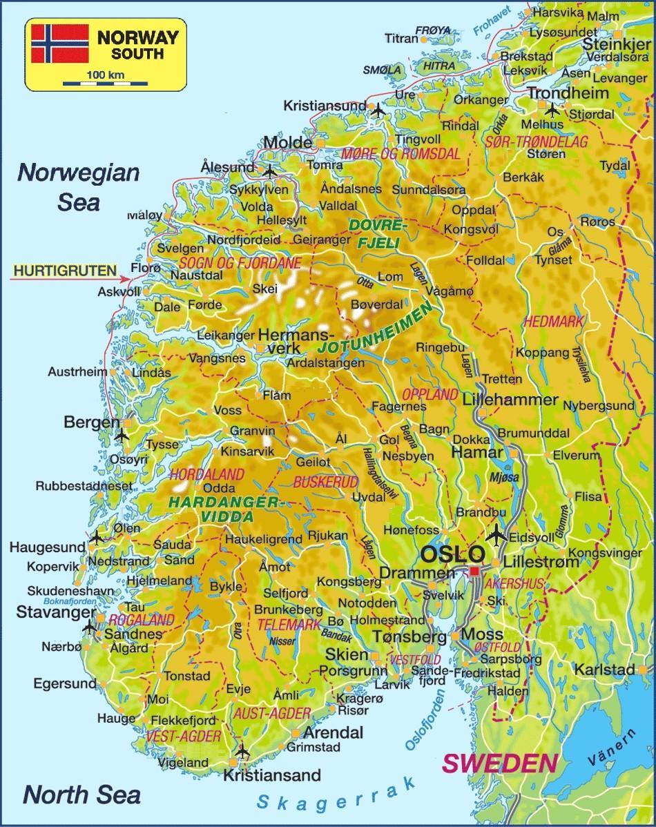 Index Of Travelnorway - Norway map 2014