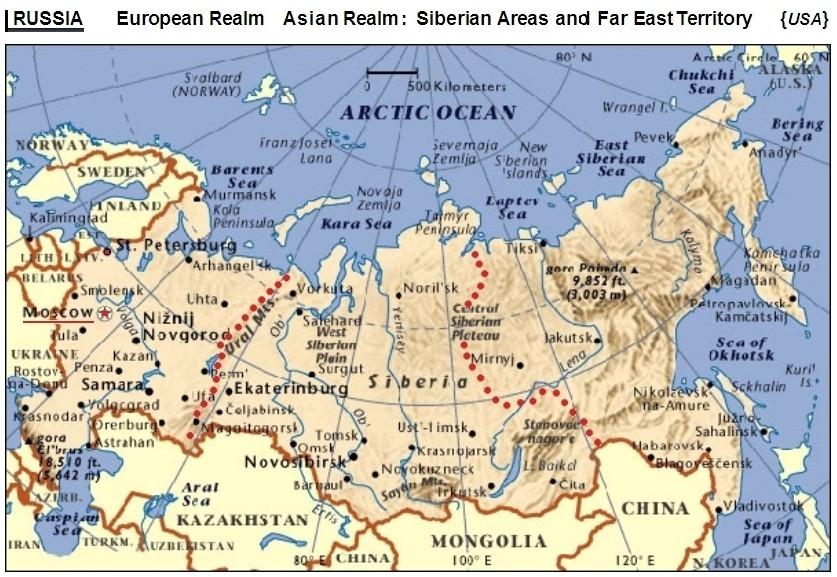 NorthBridgeRussia: Map of Russia.