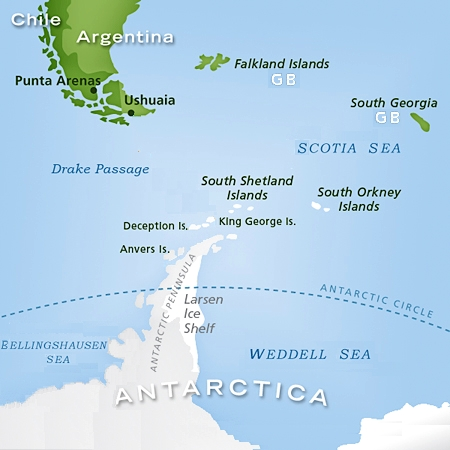 South Georgia - Georgia map islands