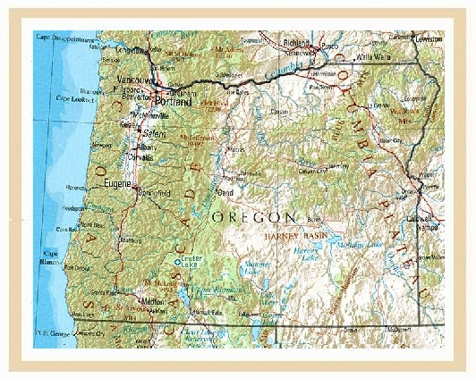 USAOregon - Oregon waterfalls map
