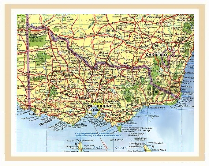 Victoria Australia 11075M Travel Map Explore Australia Road Maps – Map Victoria Australia